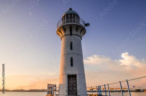 Lighthouse of Raffles Marina Poster