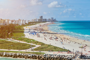 panorama of miami beach