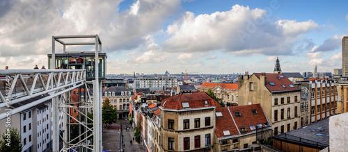 Foto op Canvas Brussel Vue de Bruxelles depuis la place du Palais de Justice