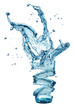 water splash in glass isolated on white background