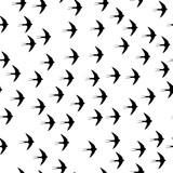 Swallow bird seamless pattern on a white background - 125196086