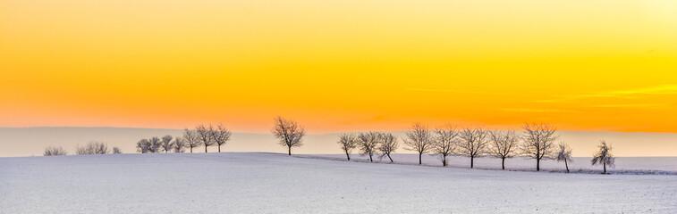 Fototapeta pomarańczowe niebo panorama