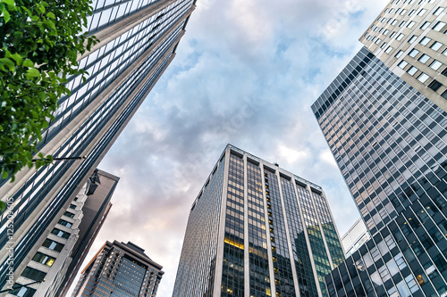 Cityscape of American cities: New York City - Wall Street view Poster