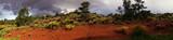 Panorama, Backlit desert landscape