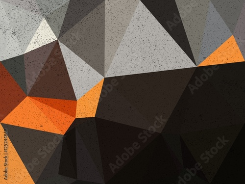 Black , orange and gray triangle abstract background illustration - 125244869