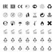 Packaging symbols set, vector