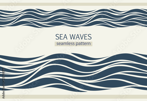 Seamless patterns with stylized waves