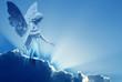 Beautiful angel in heaven