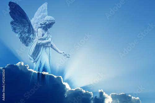 Beautiful angel in heaven Poster