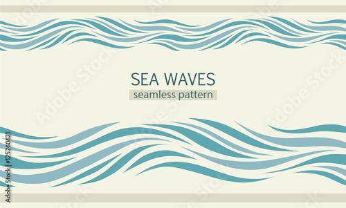 Seamless patterns with stylized sea waves