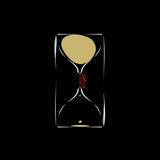 hourglass with solenoid to slow down the time
