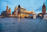 Old Town of Krakow at Dusk in Poland