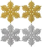 Fototapety Snowflake Christmas Decoration, Xmas Gold Silver Snow flake