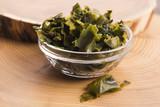 soaked wakame seaweed, japanese food