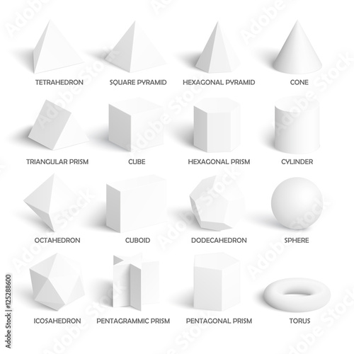 All basic 3d shapes template - 125288600