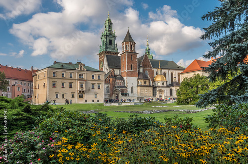 Fototapety, obrazy : Wawel Castle and Wawel cathedral on sunny afternoon