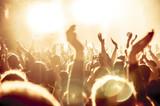 Jubelnde Konzertbesucher auf Rock-Konzert - 125306427