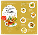 Pasta menu card template