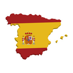 spain map geography isolated icon vector illustration design