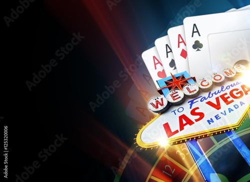 Poker Las Vegas Background плакат