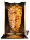 Arab Grilled Chicken Shawarma Meat Cooking White