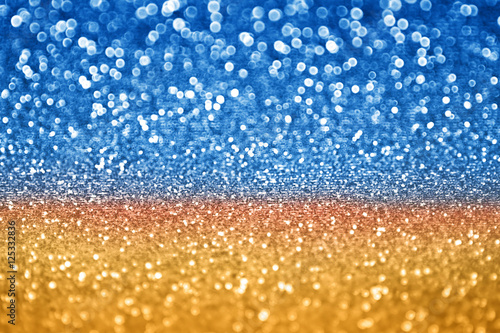 Billede Abstract glitz and glam blue gold sparkle background for Hanukkah, Chanukah or C