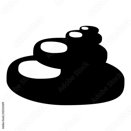 Stones for Spa icon. Simple illustration of stones for Spa vector icon for web