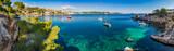 Spain Coastline Panorama Mediterranean Sea Majorca Cala Fornells - 125338826