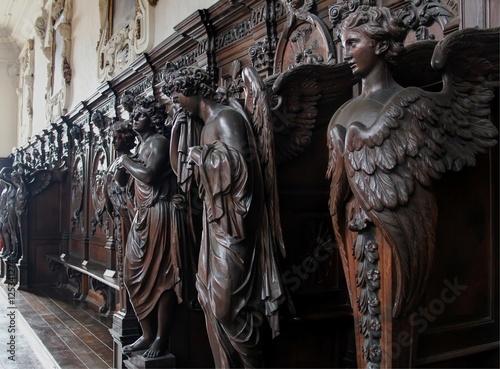Fotobehang Antwerpen Details at St.-Carolus Borromeus church, Antwerp Belgium