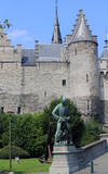 Medieval Castle, Het Steen, in Antwerp, Belgium