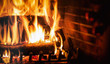 Quadro Logs burning in a fireplace