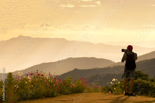 Photographer with Landscape view.