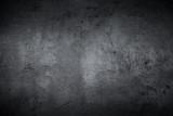 Empty black concrete stone surface texture - 125376221