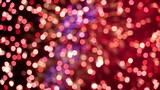 Colorful defocused firework pyrotechnic show close up