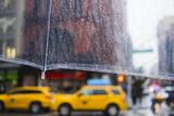 raining in New York City