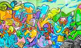 Graffiti aux couleurs vives - 125380259