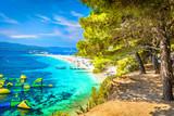 Golden Cape beach Bol. / Famous adriatic beach in Croatia, Island Brac. - 125389473