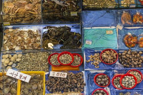 Deurstickers Seoel Noryangjin Fisheries Wholesale Market , Expansive wholesale & re