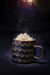 hot drink with whipped cream