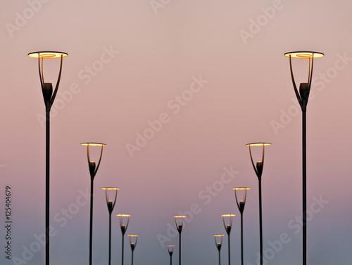 lighting equipment in street. Led lamp.