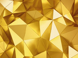 Geometric three dimensional metal background - 125408202