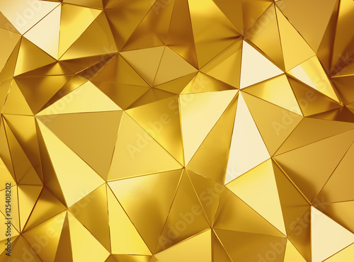 Geometric three dimensional metal background