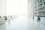 Fototapety White library table closeup