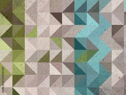 Blue and white triangle mosaic abstract background illustration - 125423667