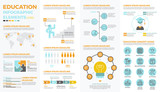 Fototapety School education infographic elements