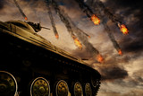 Military Tank on Battlefield - 125448485
