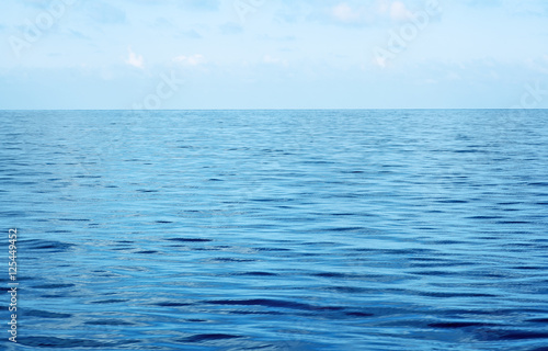 blue tropical ocean and sky