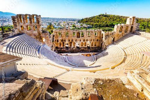 Papiers peints Athenes Ancient Amphitheater of Acropolis of Athens, landmark of Greece