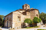 The byzantine church of the Holy Apostles of Solaki in the Ancient Agora of Athens, Greece - 125467891