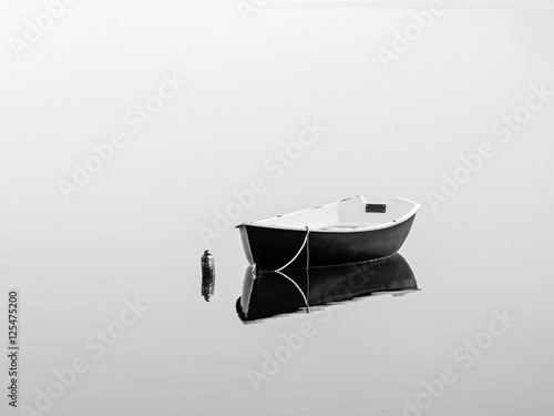 Black rowboat - 125475200